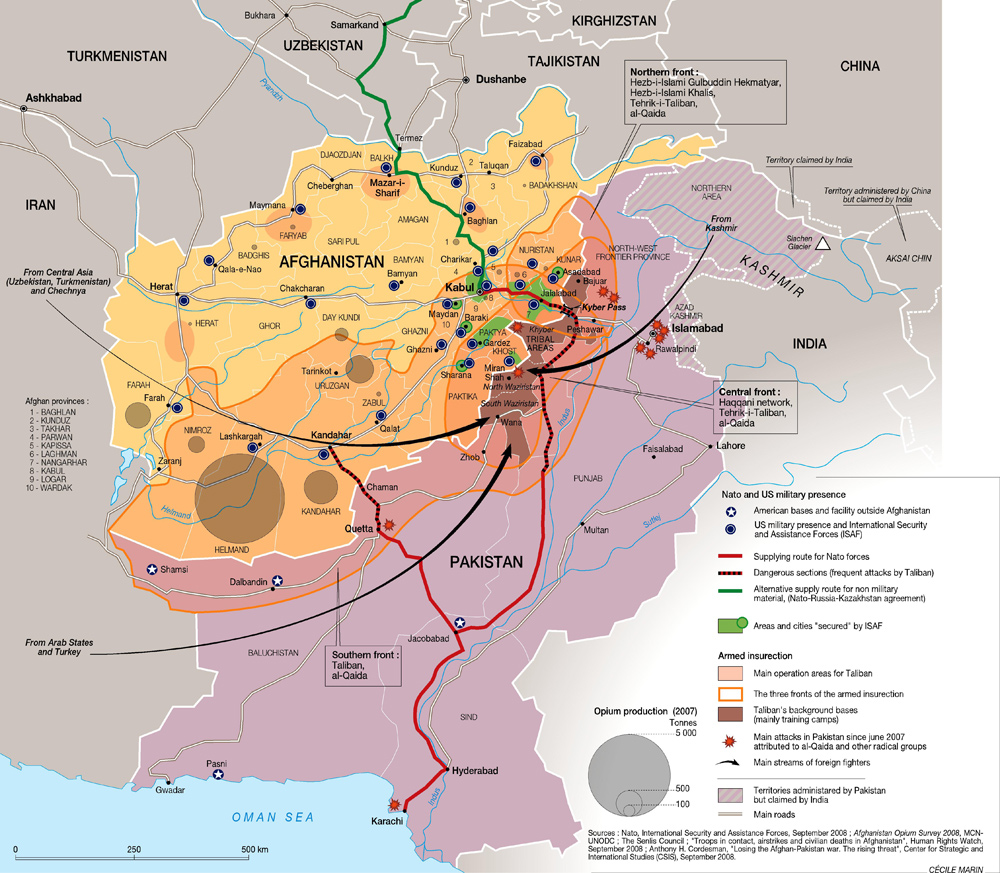 The most important parts of the Afghan War, in one map