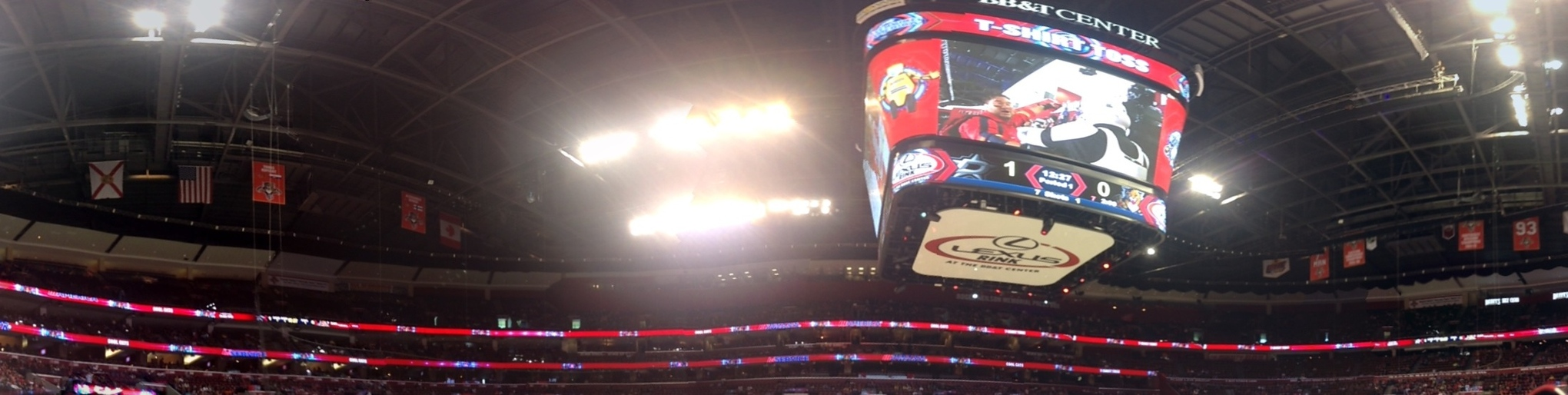 The Upper Deck Of The Bb Amp T Center A New Perspective