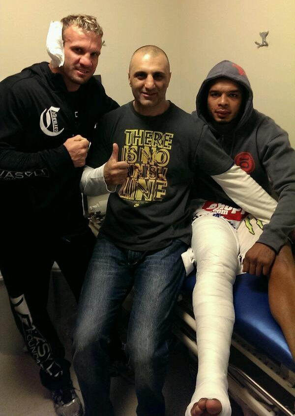 Pic Tyrone Spong Broken Leg Ends Glory 15 Main Event