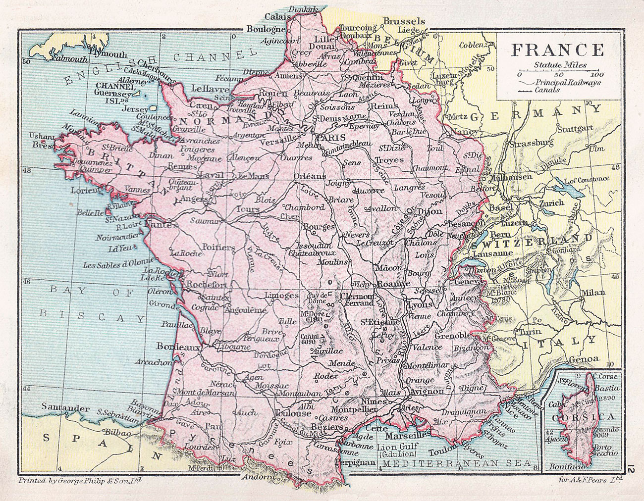 The French rail network in 1914