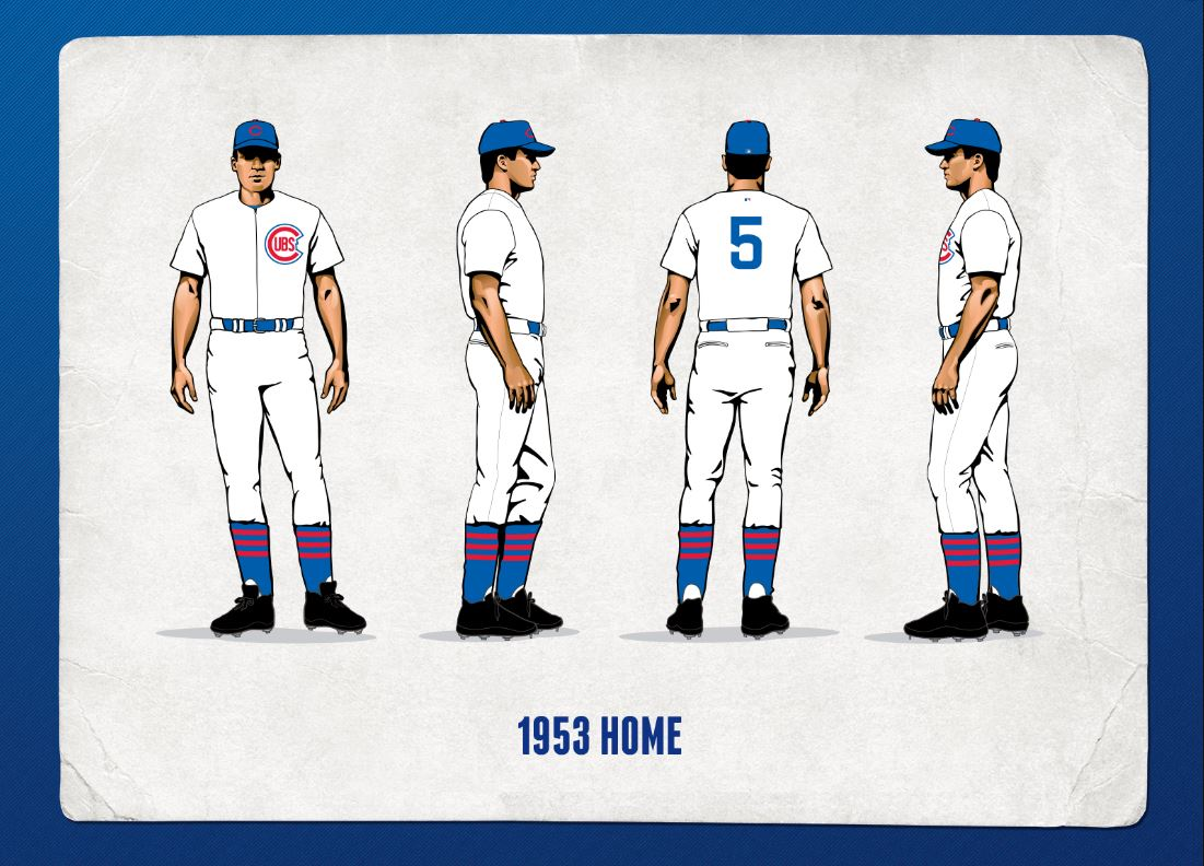 size 40 ad19f d911f Cubs Celebrate 1950s In Upcoming Homestand - Bleed Cubbie Blue
