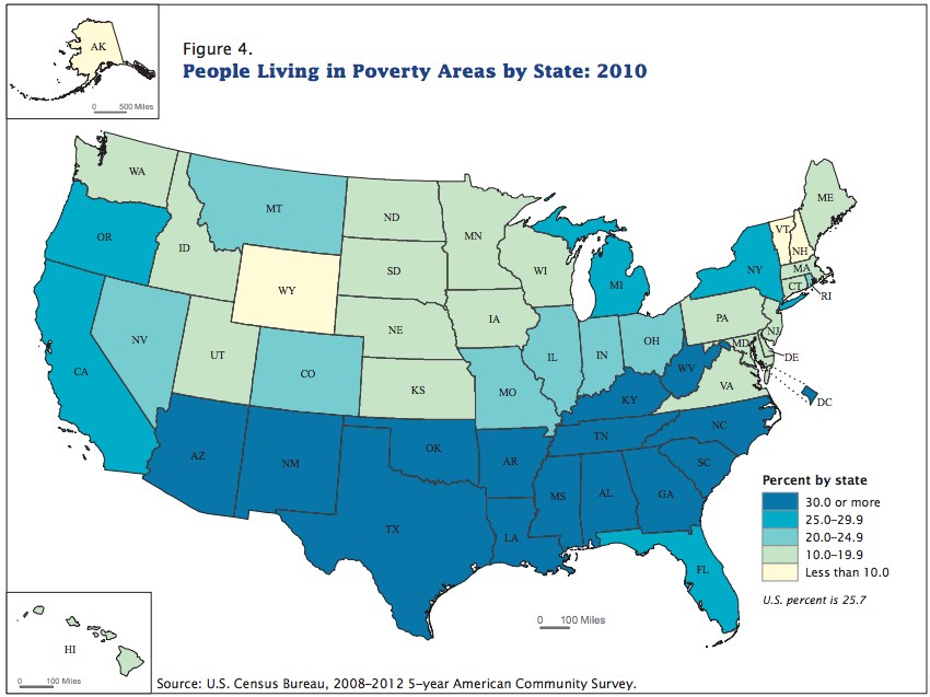 Where Americas Poverty Is Getting More And More Concentrated Vox - Poverty-in-the-us-map
