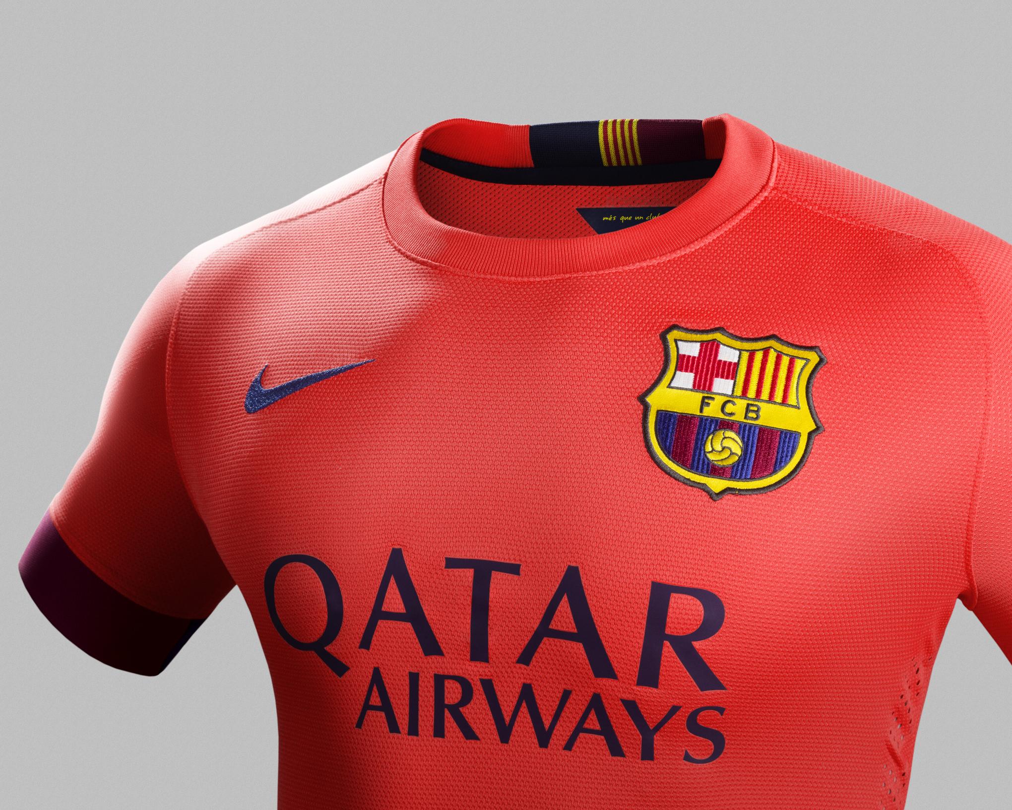 wholesale dealer 8d0d3 339ee FC Barcelona return to salmon away kit for 2014/15 ...