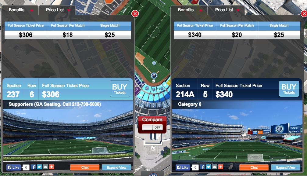 NYCFC releases Yankee Stadium seating chart - SBNation.com