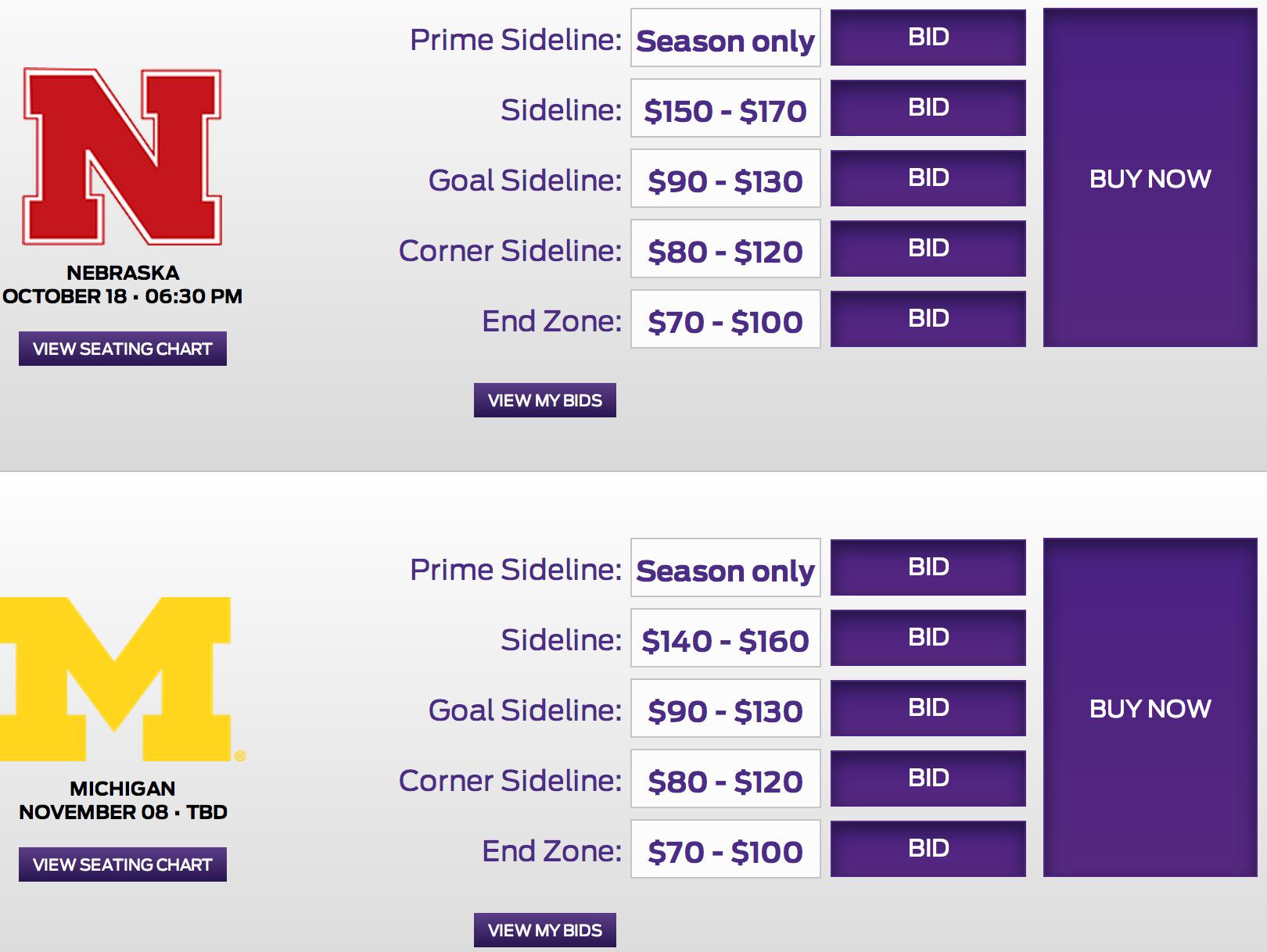 Nebraska, Michigan are this year's Purple Pricing games
