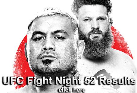 UFC Fight Night 52 Results