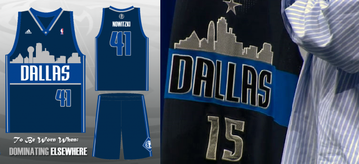 378365501 People seem generally excited about the idea of having the Dallas skyline  on the uniforms. Unfortunately
