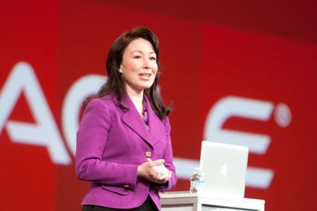 Safra Catz Oracle press
