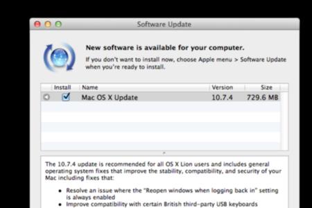 os x 10.7.4 update