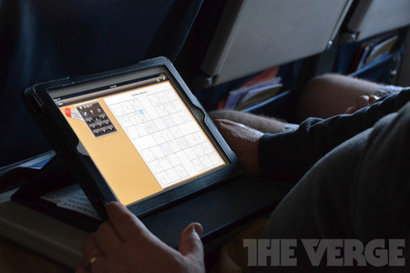 Electronic devices in-flight iPad