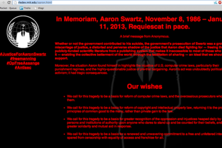 Anonymous Aaron Swartz hack