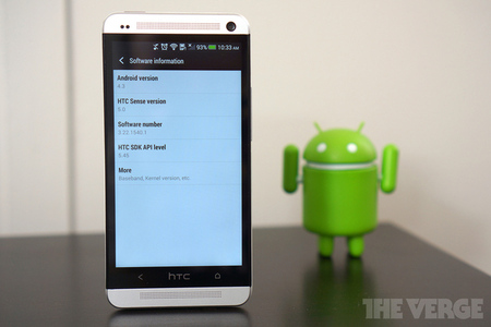 HTC One with Android 4.3