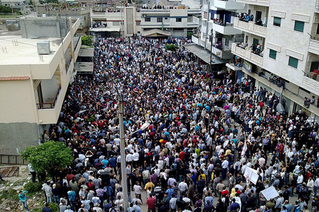 syria demonstration (wikimedia)