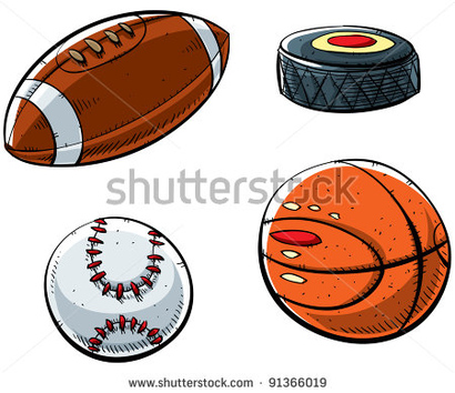 Stock-photo-cartoon-sports-set-with-football-hockey-puck-baseball-and-basketball-91366019