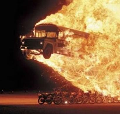 Bus-fire-bikes