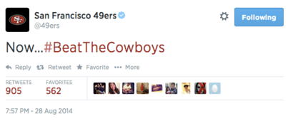 San-francisco-49ers-on-twitter--now--beatthecowboys