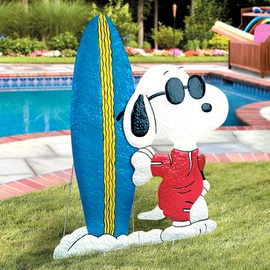 Snoopy as Joe Cool Hammered Tin