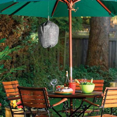 20-inch Waspinator hanging under a backyard canopy