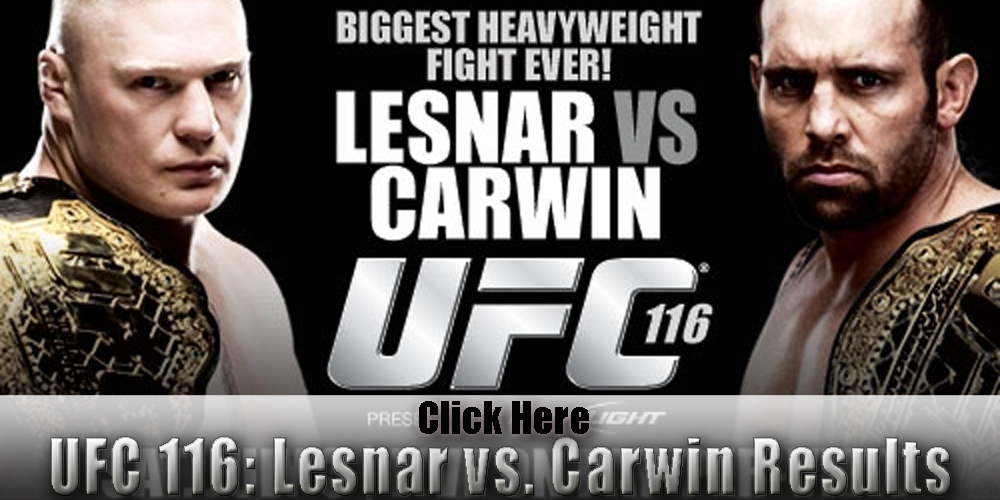 UFC 116 results and LIVE fight...