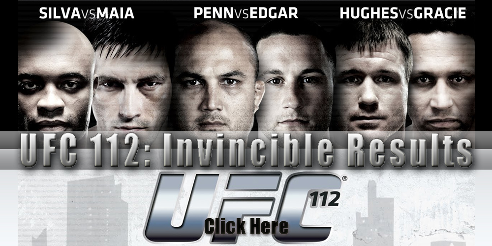 UFC 112 results and LIVE fight...