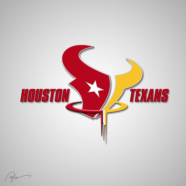 Houston Texans Logo Merged With Houston Rockets Logo Looks