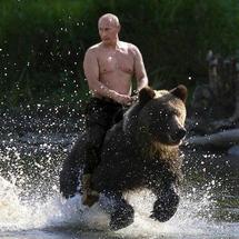 Putin-riding-a-bear