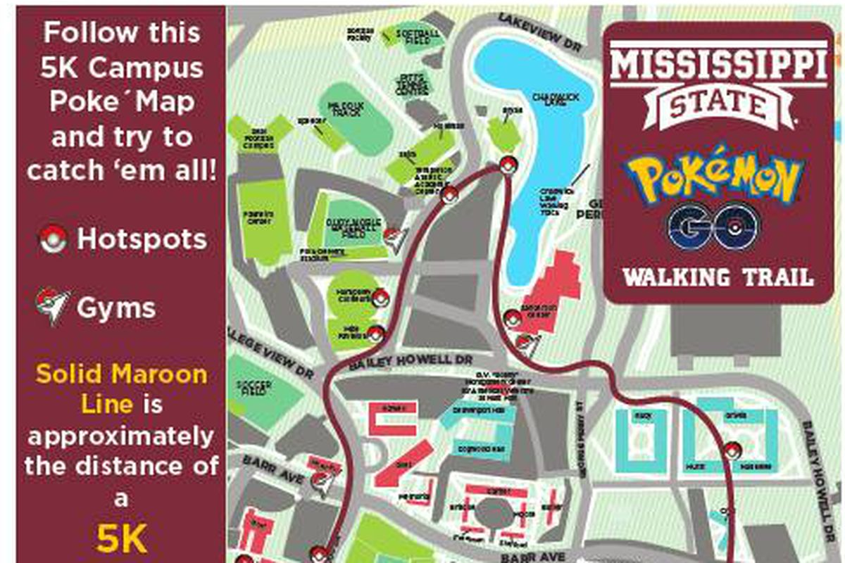 Mississippi State Has Its Own Pokemon Go Map For Whom