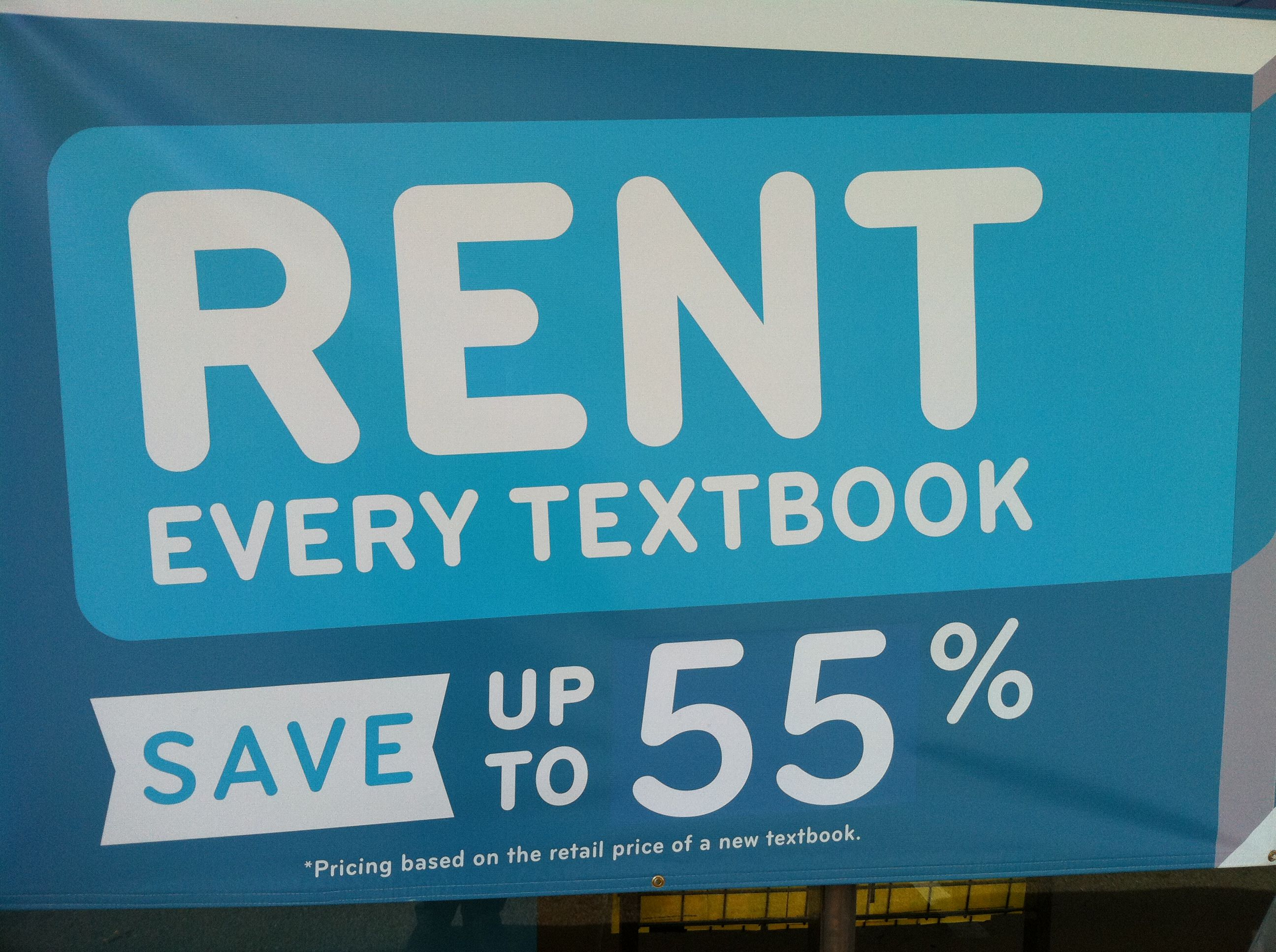 Rising costs of textbooks