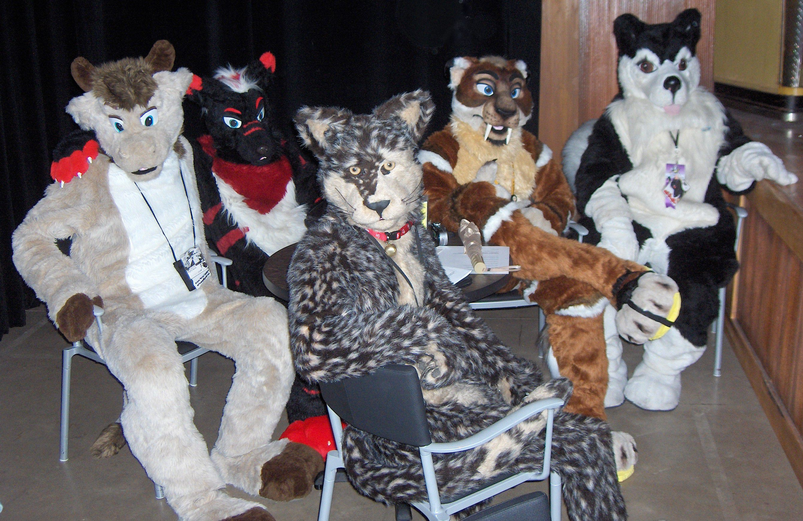furry Fur-suiters before a rehearsal of the musical <b>Furry</b> Tales, the night before <b>...</b>