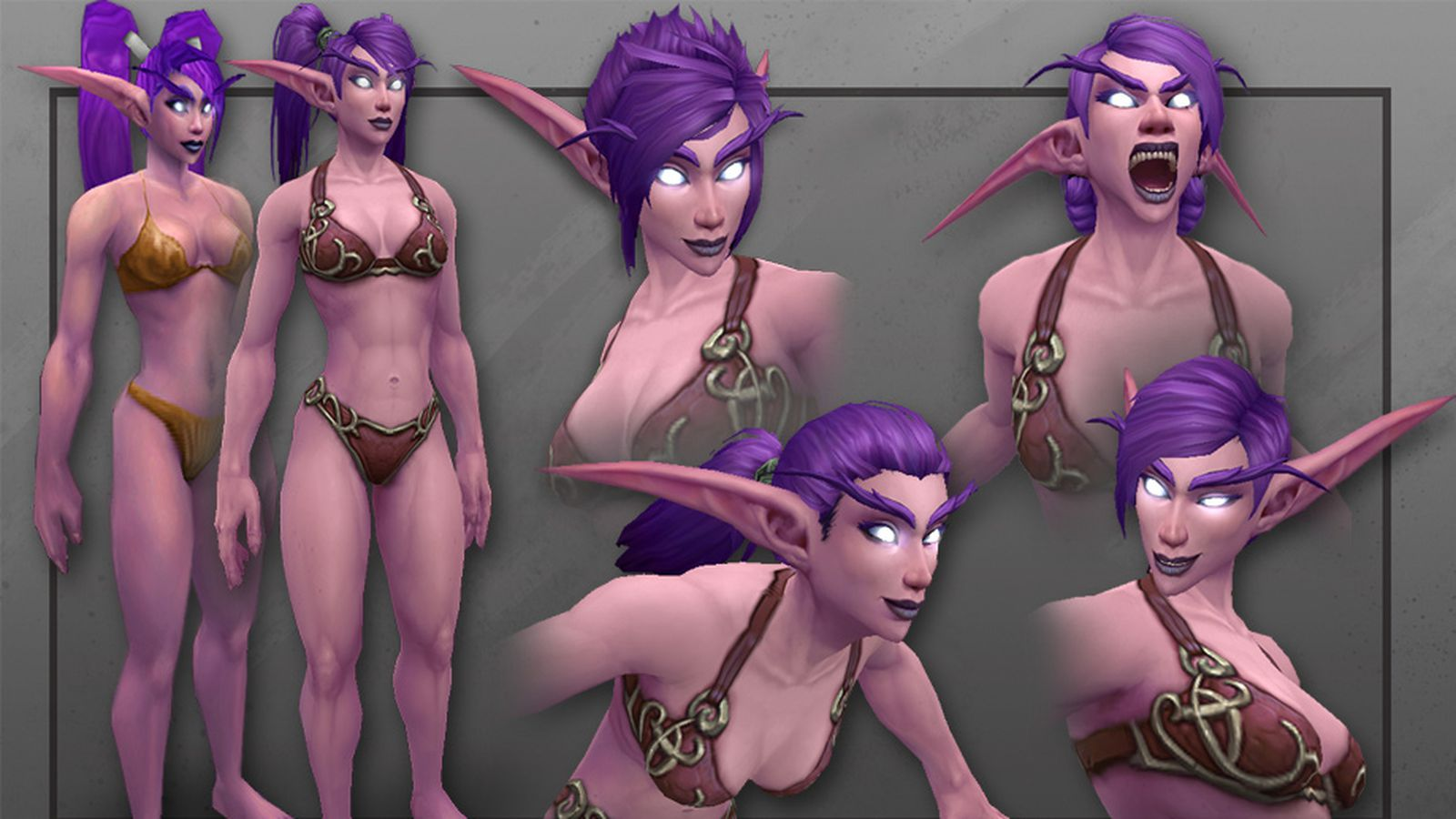 Wow human and night elf nude clips