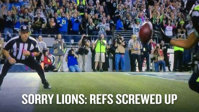 The refs, the Seahawks, the Lions and the NFL all screwed up Monday night