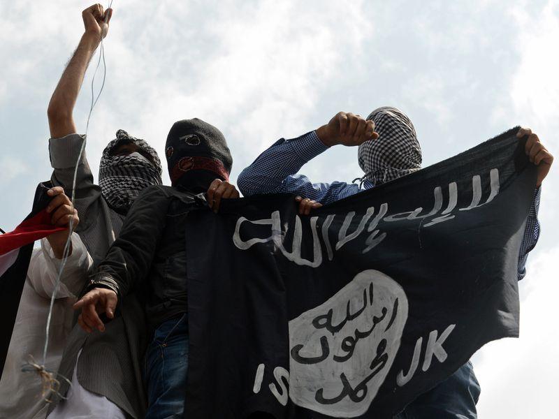 Kashmiri ISIS demonstrators