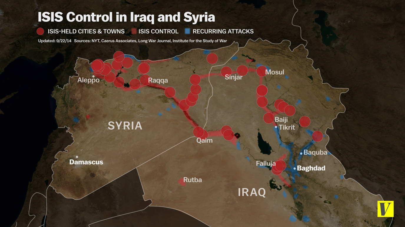 Maps That Explain ISIS Vox - Isis location map in us