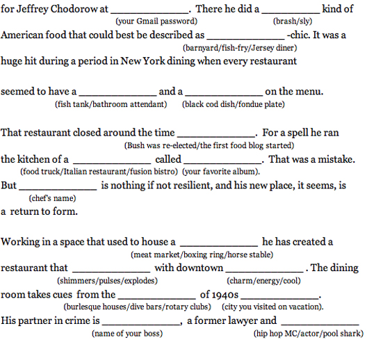 43b3dc376428c Write Your Own 2 Star NYT Review with Sam Sifton Mad Libs! - Eater NY