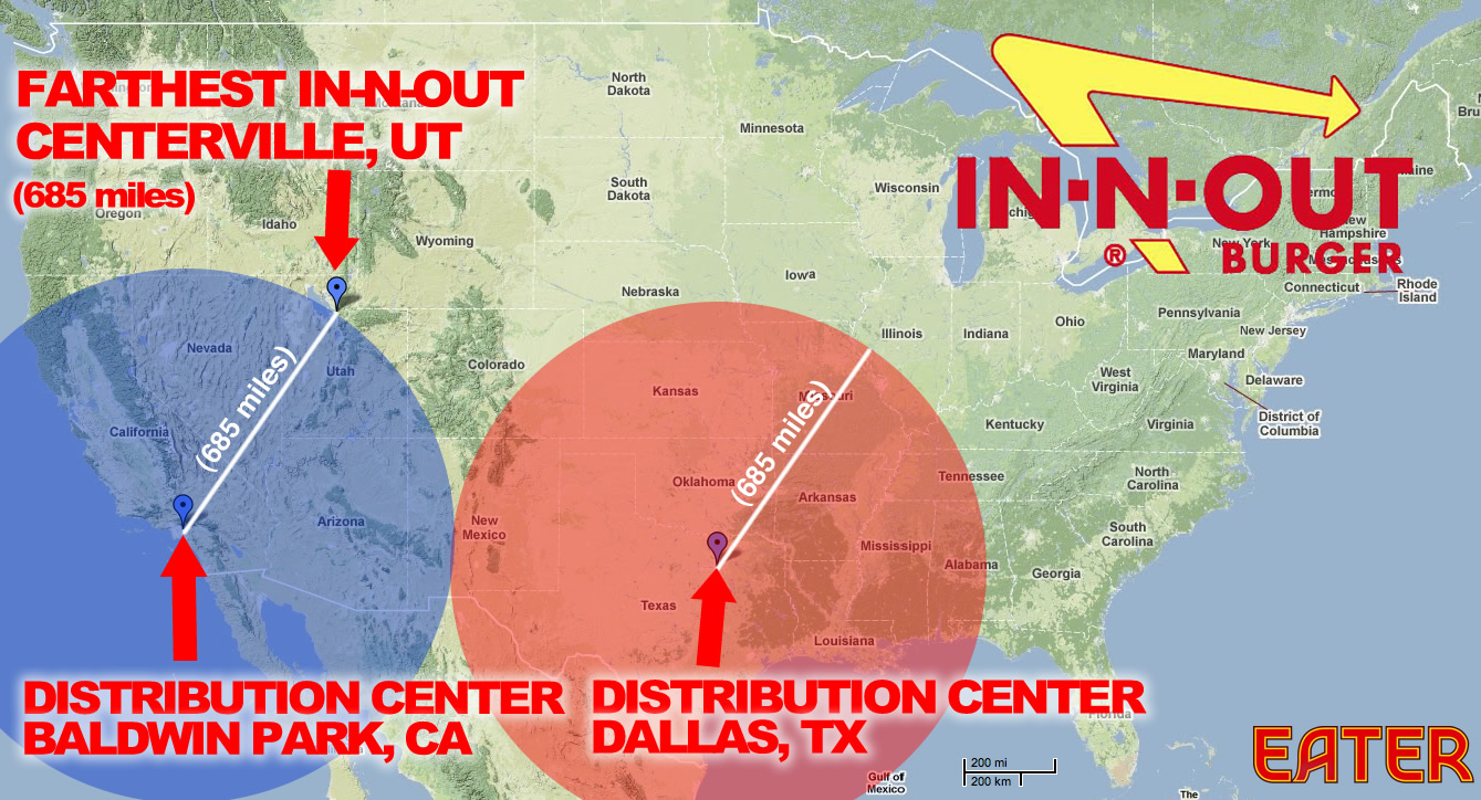 In N Outs New Dallas Distribution Center Means It Could
