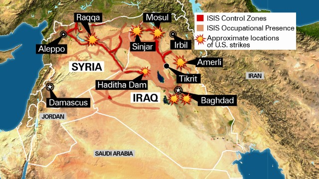 Maps That Explain ISIS Vox - Map of area that us forces control in syria