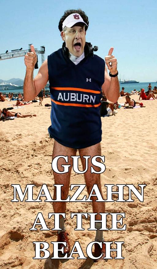 Malzahn at the beach