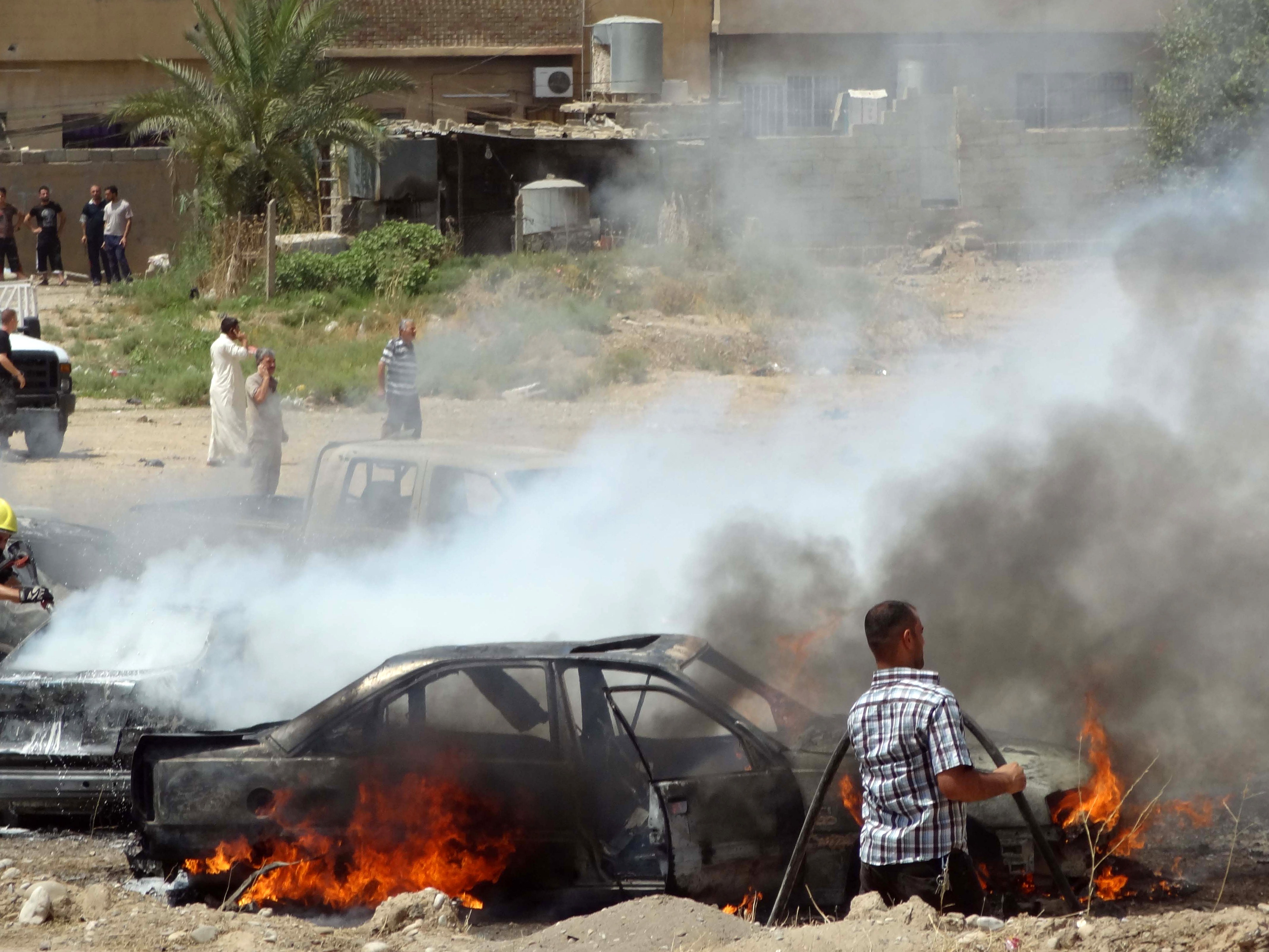 The aftermath of a car bombing in Kirkuk, the capital of Iraqi Kurdistan. MARWAN IBRAHIM/AFP/Getty Images