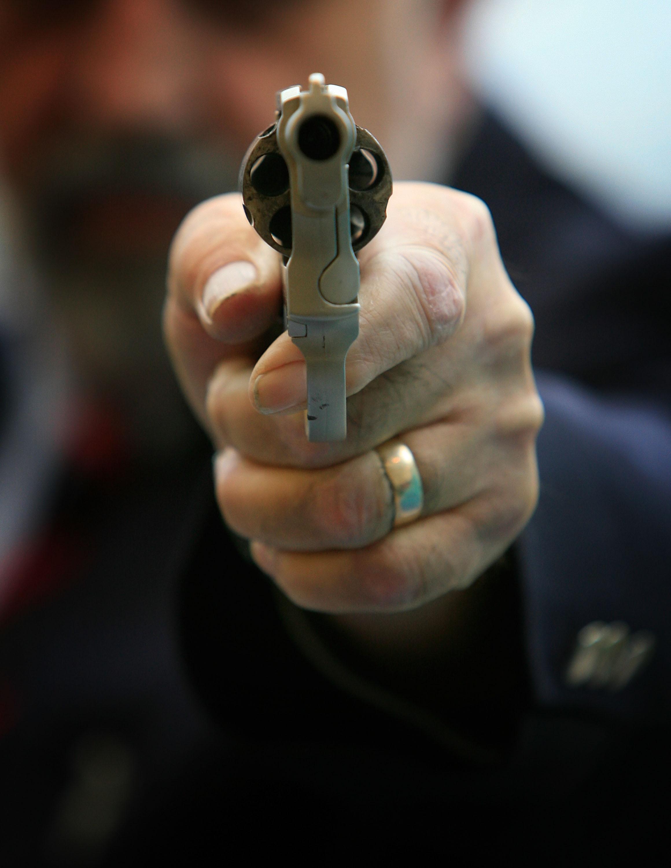 british police officer revolver