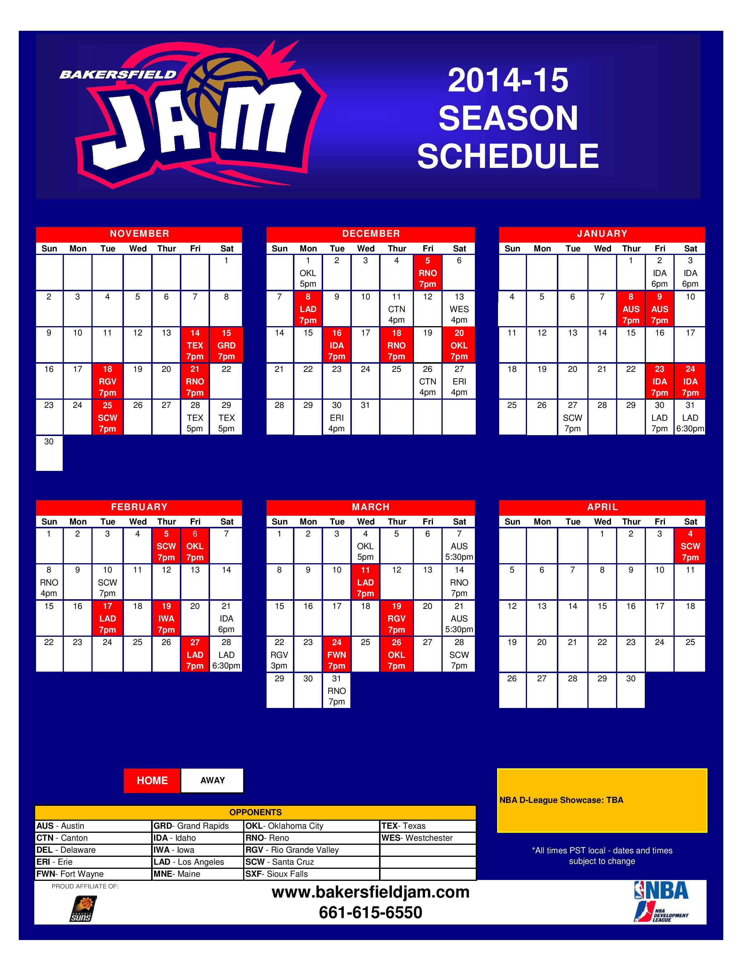 Bksfld Jam 2014-15