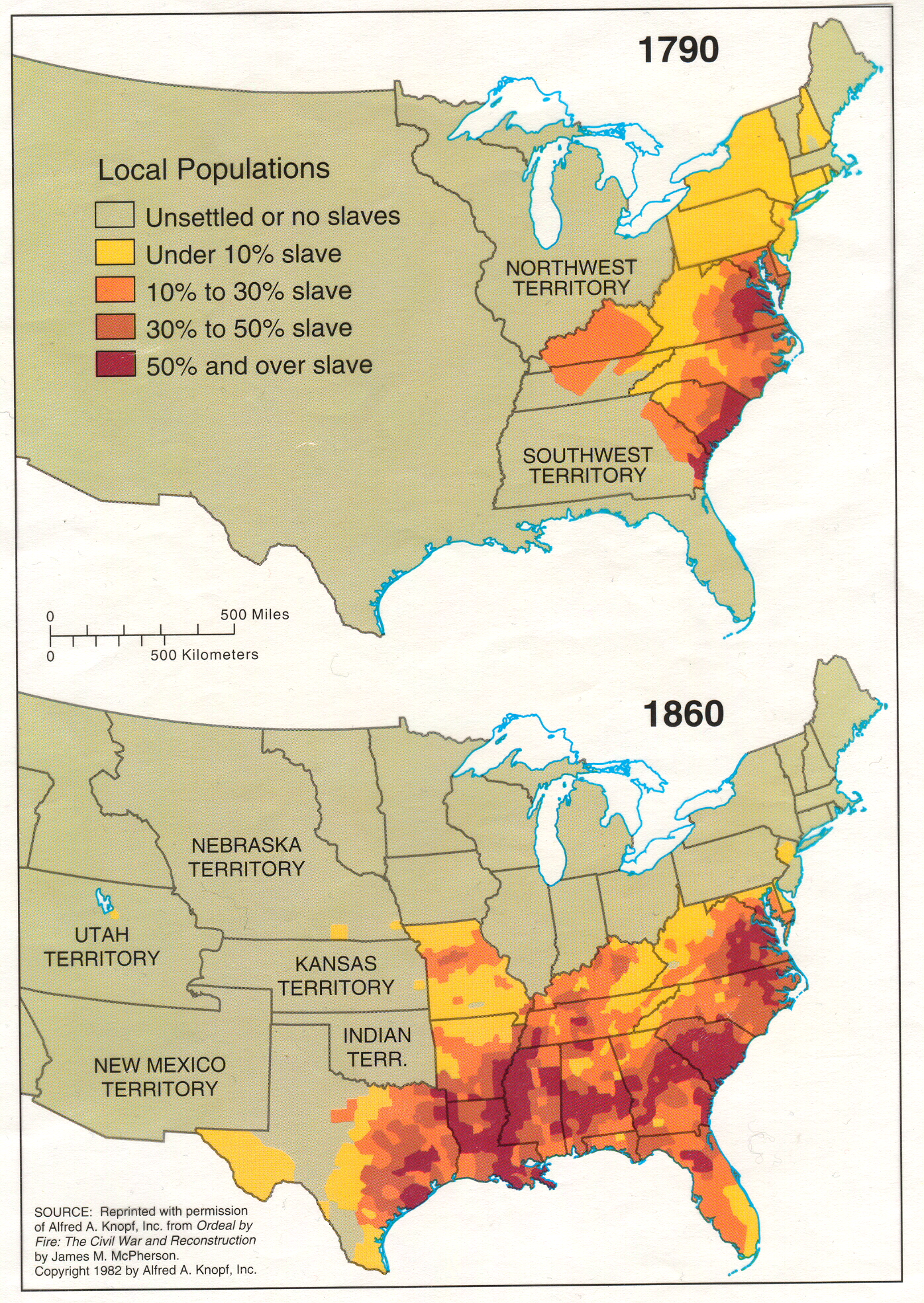 70 maps that explain america vox the evolution of slavery in the united states gumiabroncs Choice Image