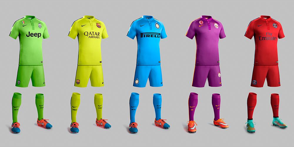 nike juventus inter milan barcelona psg galatasary third kits 2014 2015