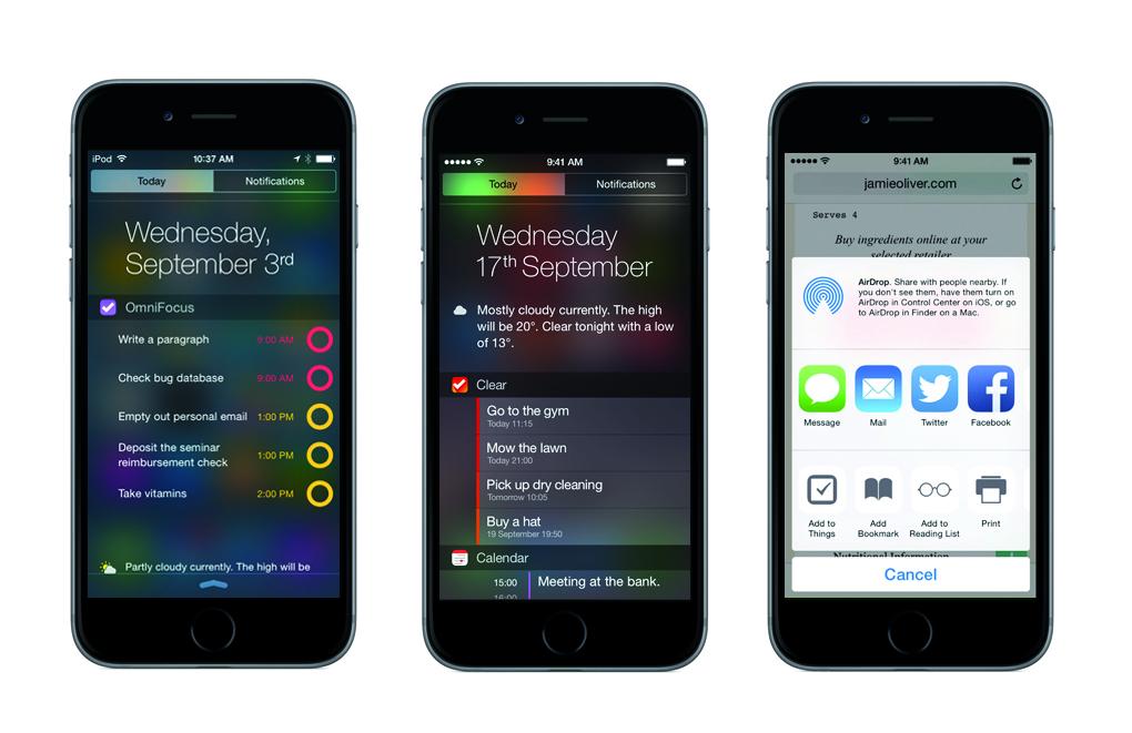 ios 8 iphones tasks