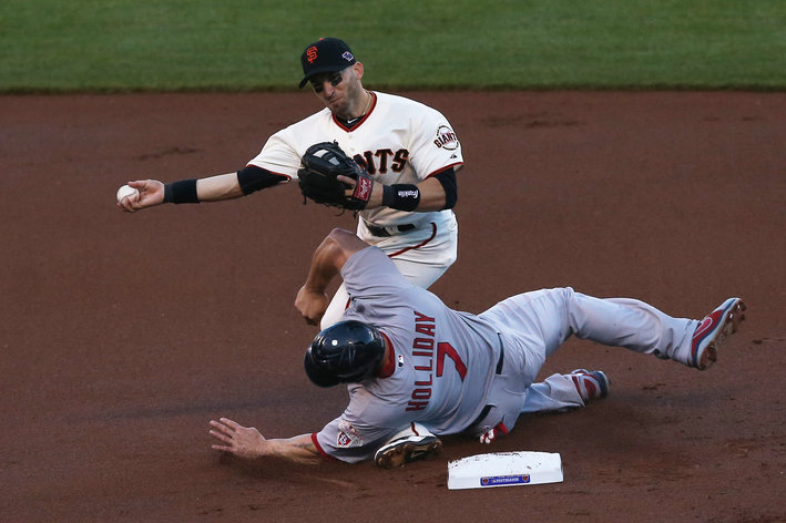 Holliday takes out Scutaro