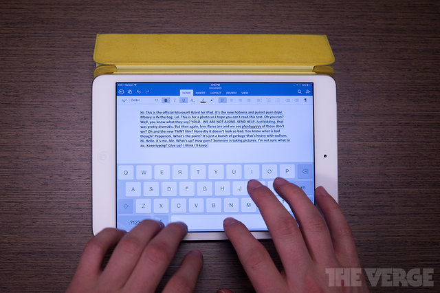 Using Office for iPad: getting to work