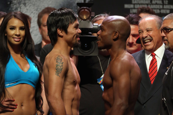 Manny Pacquaio will try to hand Timothy Bradley his first career loss    Manny Pacquiao Vs Timothy Bradley April 12