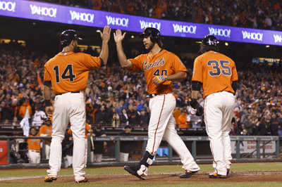 Madison Bumgarner hits snot out of the ball, rockets Giants to victory over Rockies