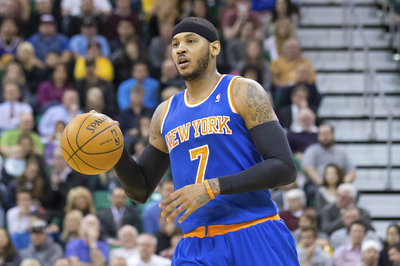 Carmelo Anthony has a partial tear in his right shoulder