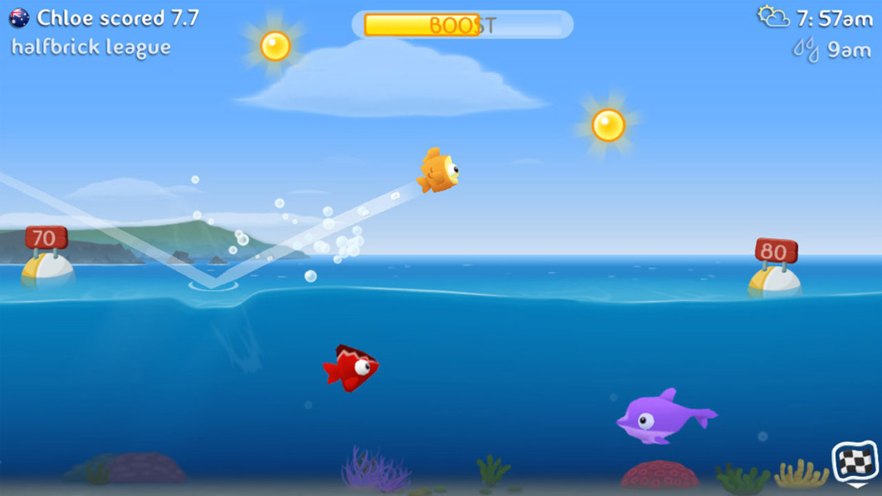 Halfbrick 39 s fish out of water comes to android polygon for Fishing game app