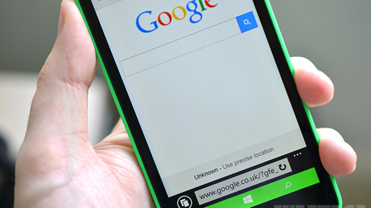 Microsoft won't let you set Google as default search on new Lumias